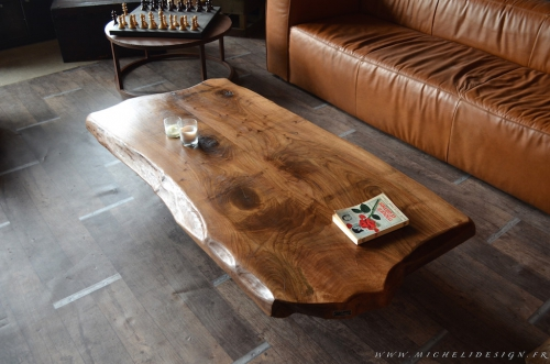 table basse, table basse bois, table basse contemporaine, table basse sur mesure, table basse design bois, table basse bois acier