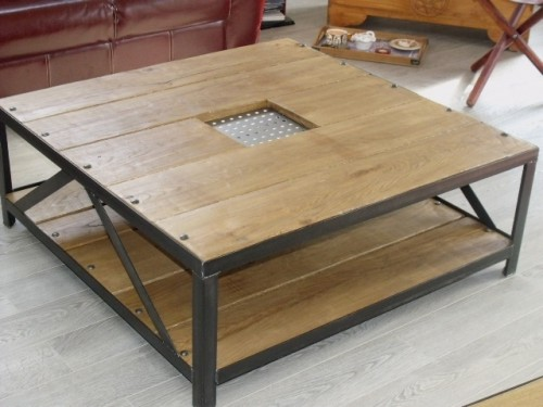 Table basse design contemporain bois m tal cr ateur et fabricant de m - Table bois design contemporain ...