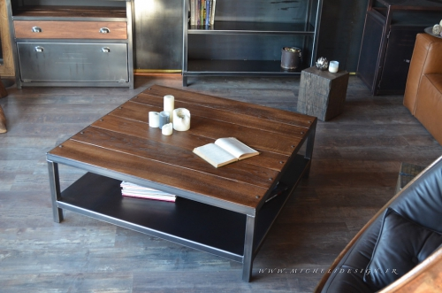 table basse, table de salon, table basse bois acier, table basse industrielle, table de salon bois acier, table,salon,